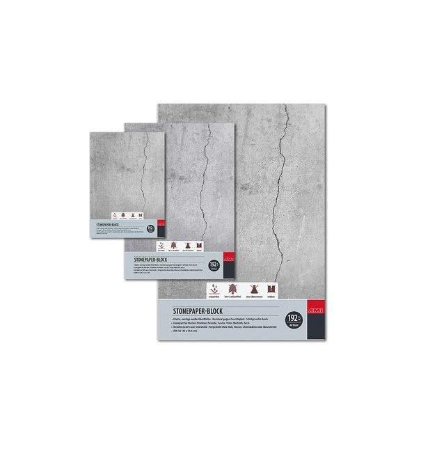Steinpapier Stonepaper-Block 192g verschieden Größe sehr geeignet für Tinte